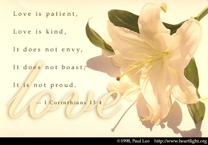 Inspirational illustration of 1 Corinthians 13:4