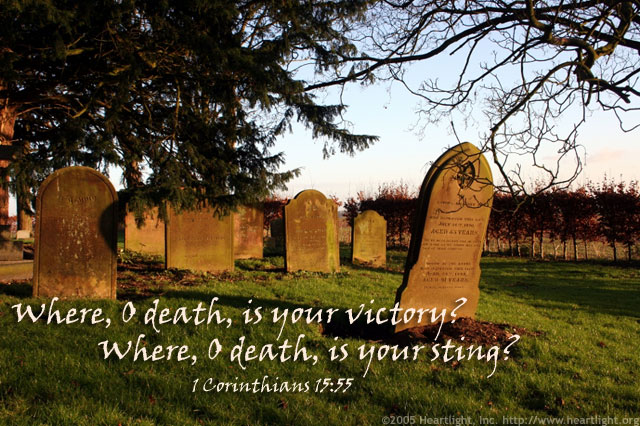 Inspirational illustration of 1 Corinthians 15:55