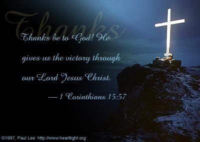 Illustration of 1 Corinthians 15:57