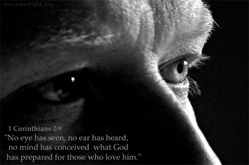 Inspirational illustration of 1 Corinthians 2:9