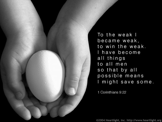 Inspirational illustration of 1 Corinthians 9:22