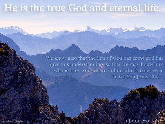 Inspirational illustration of 1 John 5:20