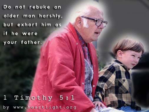 Inspirational illustration of 1 Timothy 5:1