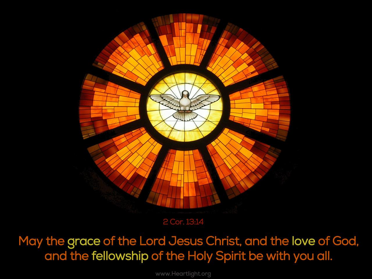 Inspirational illustration of 2 Corinthians 13:14