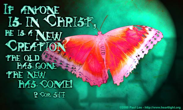 Inspirational illustration of 2 Corinthians 5:17