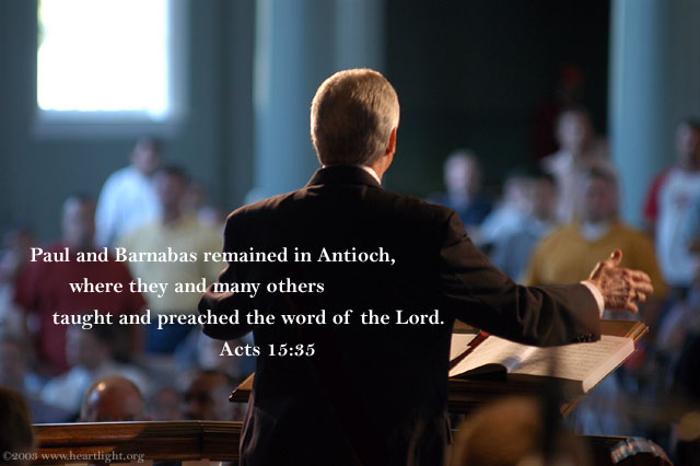Inspirational illustration of Acts 15:35