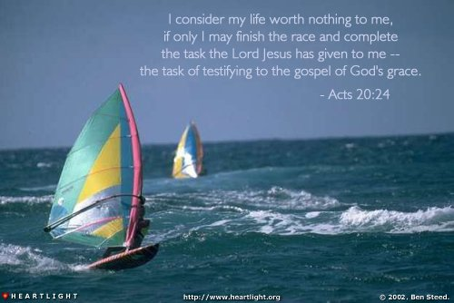 Inspirational illustration of Acts 20:24