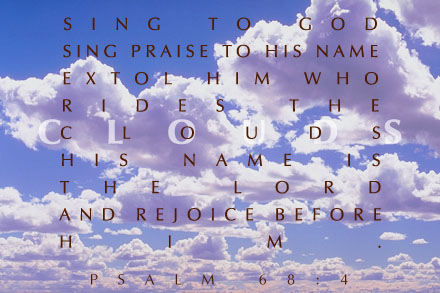 Inspirational illustration of Psalm 68:4