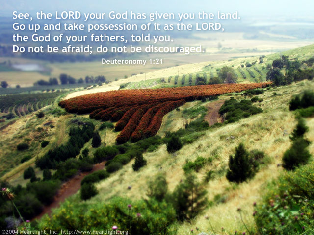 Inspirational illustration of Deuteronomy 1:21