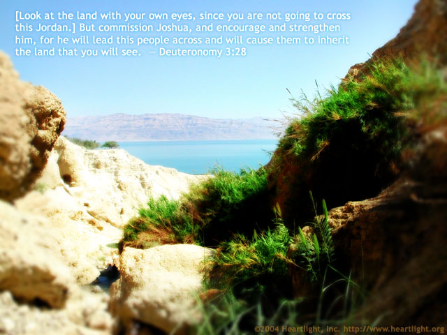 Inspirational illustration of Deuteronomy 3:28