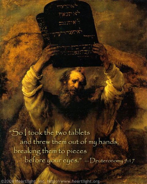 Inspirational illustration of Deuteronomy 9:17