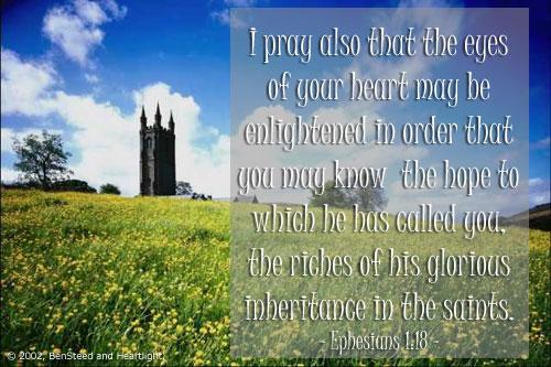 Inspirational illustration of Ephesians 1:18