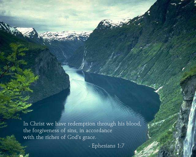 Inspirational illustration of Ephesians 1:7