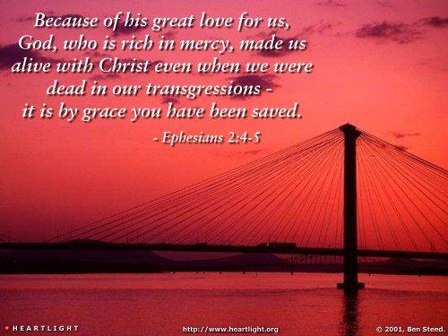Inspirational illustration of Ephesians 2:4-5