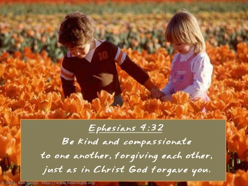 Inspirational illustration of Ephesians 4:32