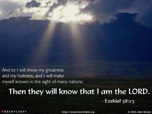 Inspirational illustration of Ezekiel 38:23