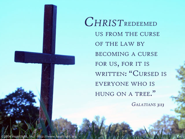 Inspirational illustration of Galatians 3:13