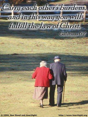 Inspirational illustration of Galatians 6:2