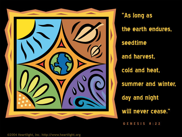 Inspirational illustration of Genesis 8:22