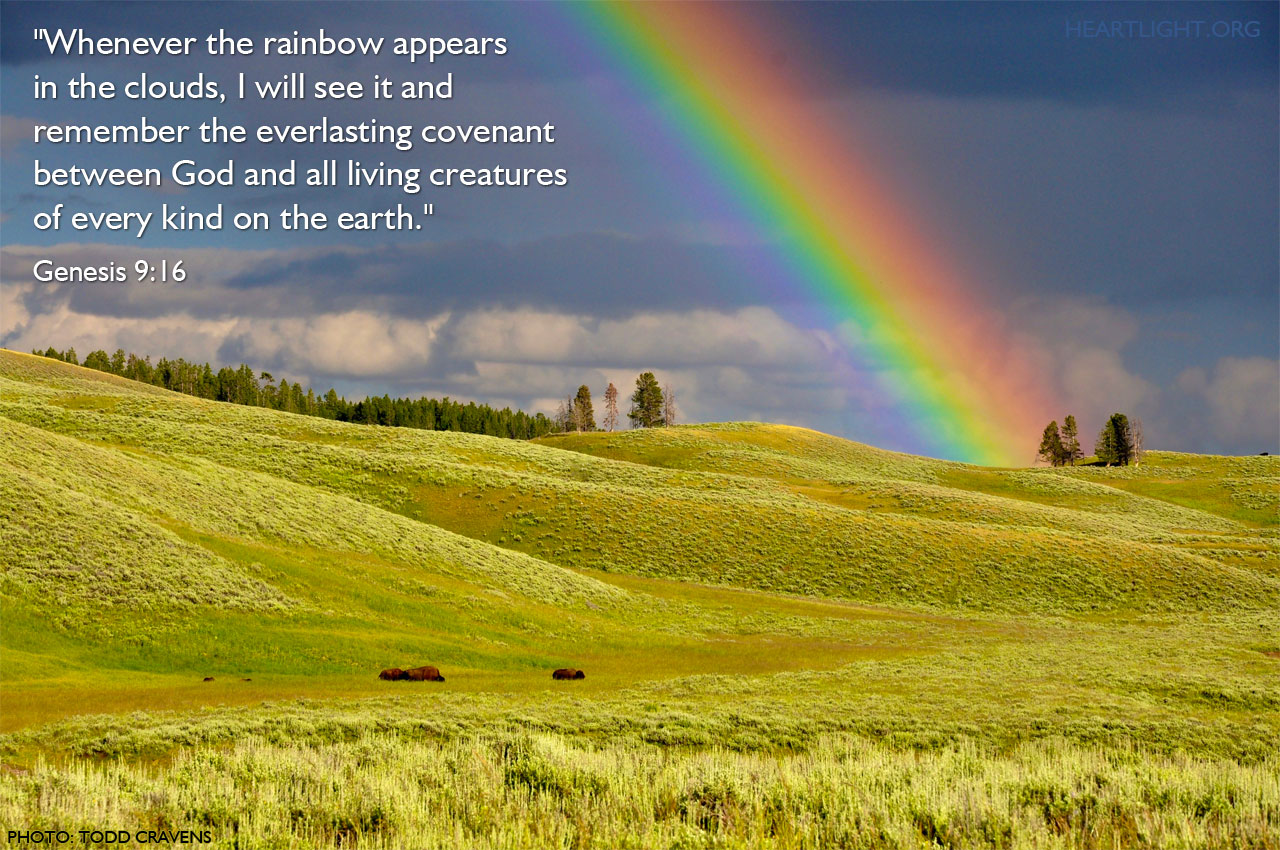 Inspirational illustration of Genesis 9:16