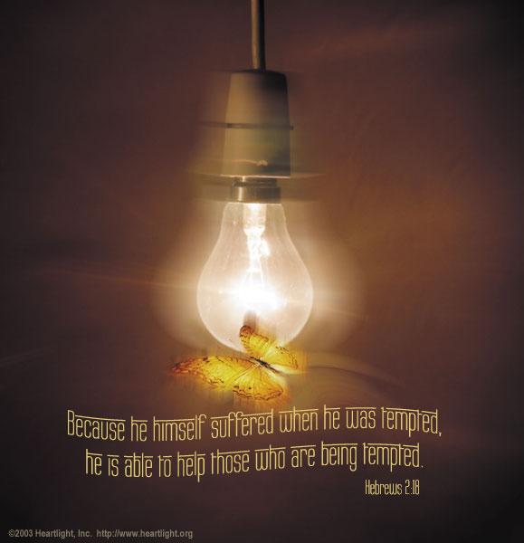 Inspirational illustration of Hebrews 2:18