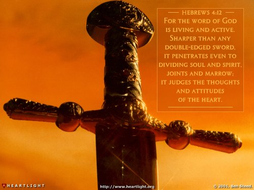 Inspirational illustration of Hebrews 4:12