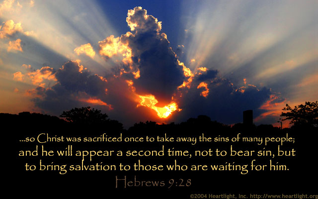 Inspirational illustration of Hebrews 9:28