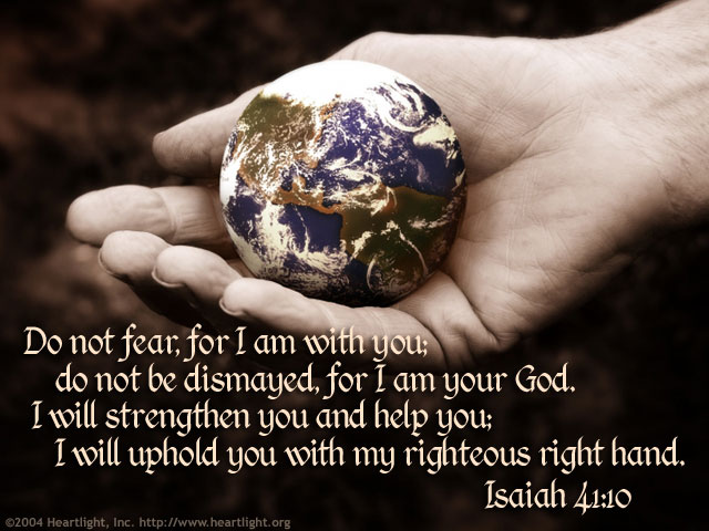 Inspirational illustration of Isaiah 41:10-11