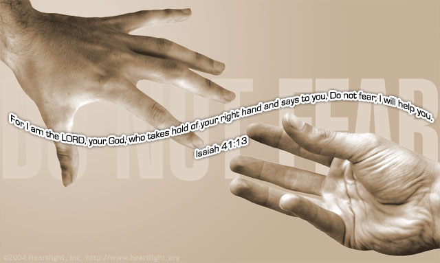 Inspirational illustration of Isaiah 41:13