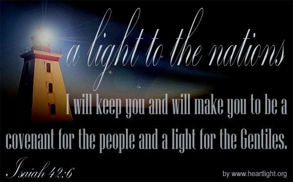 Inspirational illustration of Isaiah 42:6