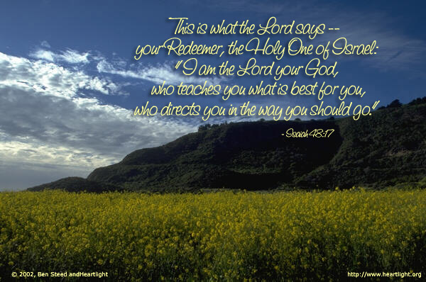 Inspirational illustration of Isaiah 48:17