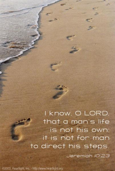 Inspirational illustration of Jeremiah 10:23
