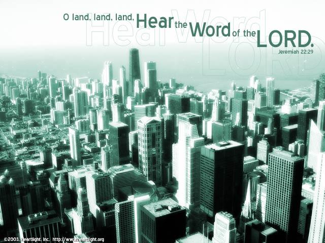 Illustration of Jeremiah 22:29