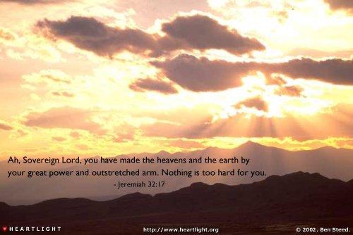 Inspirational illustration of Jeremiah 32:17
