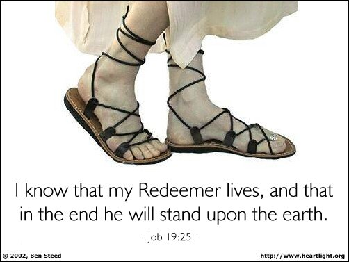 Inspirational illustration of Job 19:25