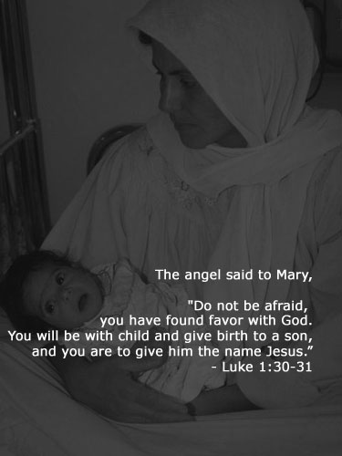 Inspirational illustration of Luke 1:30-31