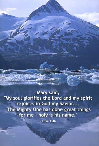 Illustration of Luke 1:46