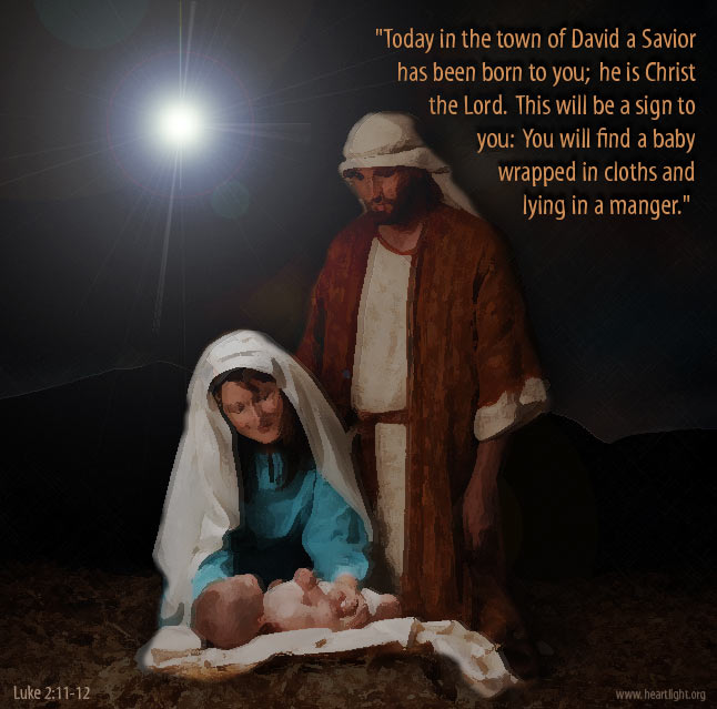 Inspirational illustration of Luke 2:12
