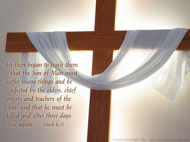 Inspirational illustration of Mark 8:31