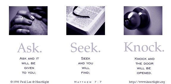 Inspirational illustration of Matthew 7:7