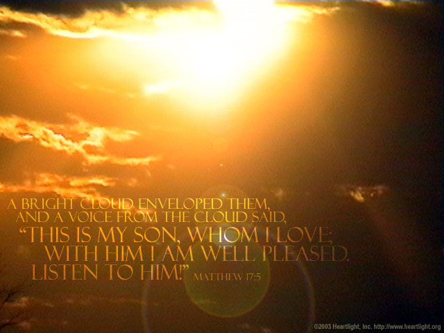 Matthew 17:5 — Verse of the Day for 08/06/2015