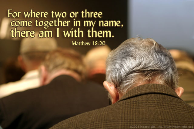 Inspirational illustration of Matthew 18:20