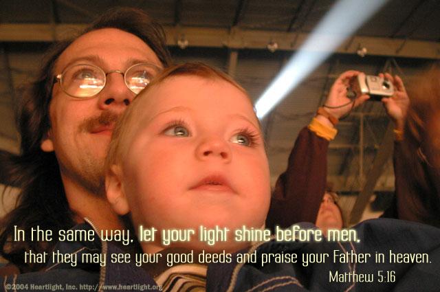 Inspirational illustration of Matthew 5:16
