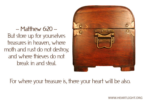 Inspirational illustration of Matthew 6:20