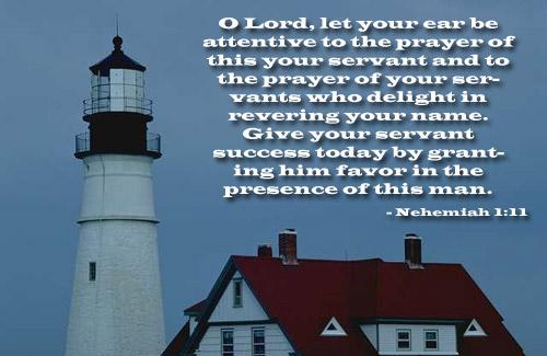 Inspirational illustration of Nehemiah 1:11