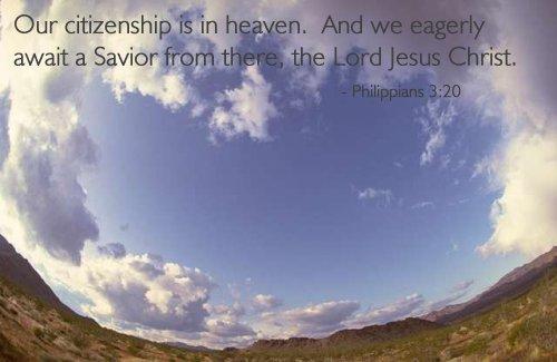 Inspirational illustration of Philippians 3:20