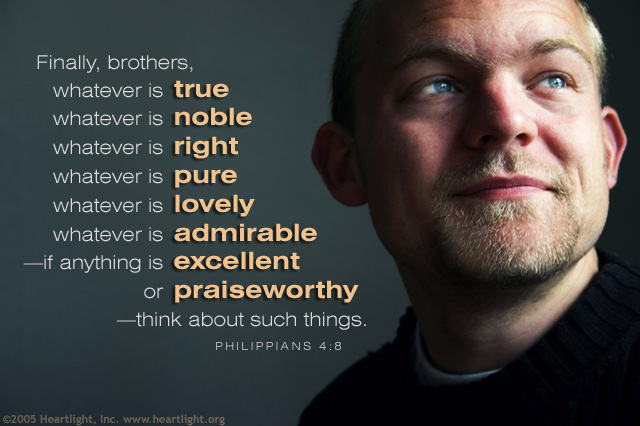 Inspirational illustration of Philippians 4:8