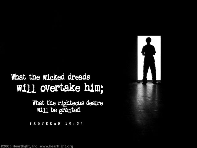 Inspirational illustration of Proverbs 10:24