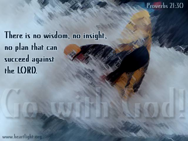 Inspirational illustration of Proverbs 21:30