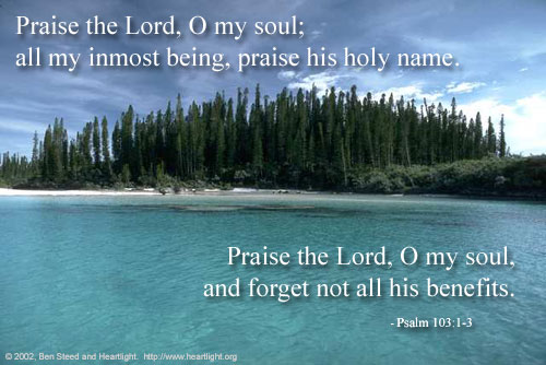 Inspirational illustration of Psalm 103:1-3